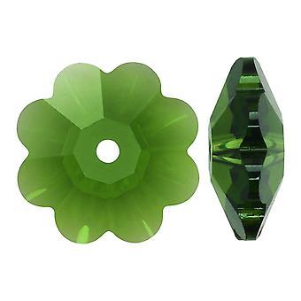 سواروفسكي كريستال، #3700 زهرة مارغريتا الخرز 10mm، 6 قطع، السرخس الأخضر