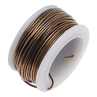 The Beadsmith Non-Tarnish Antique Vintage Bronze Brass Color Copper Craft Wire 18 Gauge - 7 Yards