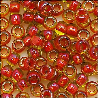 Toho Round Seed Beads 6/0 303 'Jonquil/Hyacinth Lined' 8 Gram Tube