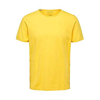SELECTED HOMME Slhmorgan SS O-Neck Tee W Noos, Men's Short Sleeve T-shirt, Yellow (Solar Energy), S