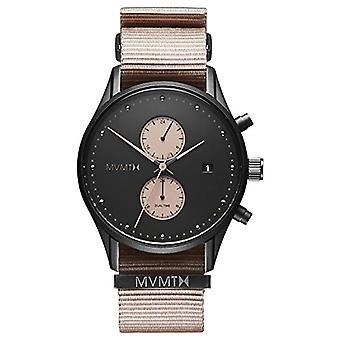 MVMT reloj cronógrafo de cuarzo para hombres con correa de nylon D-MV01-BLBR
