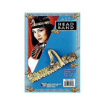 Egyptische Cleopatra koningin van de Nijl Sequin Snake Asp vrouwen kostuum zendspoel