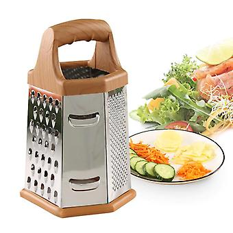 1pc Stainless Steel Six sided Grater Multi function Shredder Kitchen Potato Wire Cutter(8 inches)