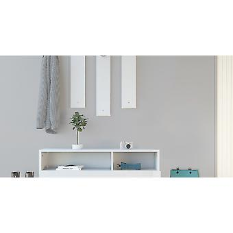 Mobile Ingresso Charles Colore Bianco, in Truciolare Melaminico L137xP35xA154 cm