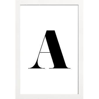 JUNIQE Print - A - Alphabet & Letters Poster in Black & White