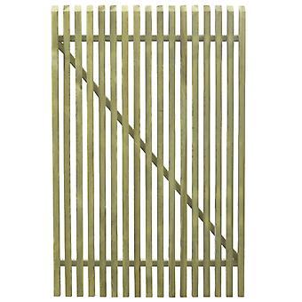 vidaXL Pile Garden Gate Legno di Pino Impregnato 100×150 cm