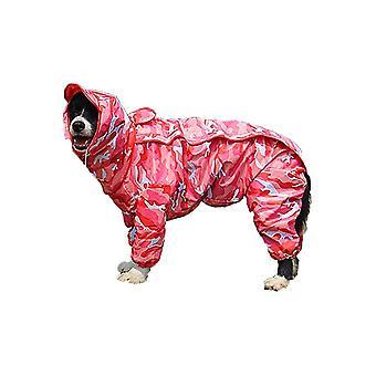 28 (Zadní délka. 73cm) maskovací růžová psí pláštěna s odnímatelným kabátem s kapucí 10 velikostí dt7295