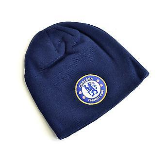 Chelsea stickad Crest Beanie Navy Blå
