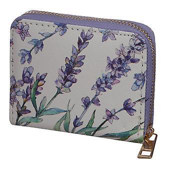 Lawendowy zip wokół małej torebki portfela