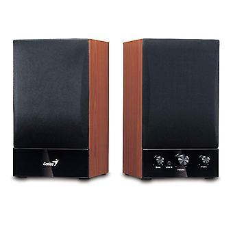 Genius SP-HF1250B II Hi-Fi-stereohögtalare i trä UK Plug