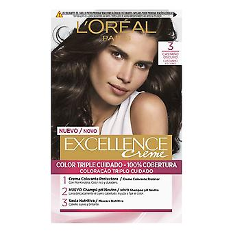 Permanent Dye Excellence L'Oreal Make Up Dark Brown