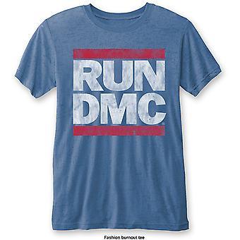 Run DMC - Vintage Logo Unisex Medium T-Shirt - Blue