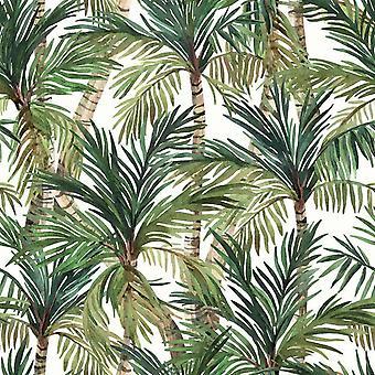 Muriva Eden Green Leaf Wallpaper