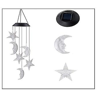 Wind Chime Light Solar Wind Chime Moon Wind Chime Living Room Bedroom Decoration