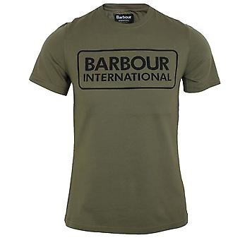 Barbour international men's dusky khaki large logo t-shirt