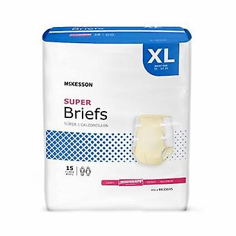 ماكيسون للجنسين سلس البول الكبار وجيزة ماكيسون X-كبير امتصاص معتدل المتاح، بيج 15 أكياس
