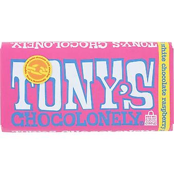Tonys Chocolonely Bar Choc White Rspbry Pop, Case of 15 X 6.35 Oz
