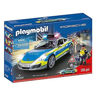 Playset Porsche 911 Carrera 4S Police Playmobil 70066 (36 piezas)