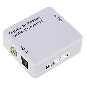 Digital to analog signal audio converter, optical fiber to analog audio converter