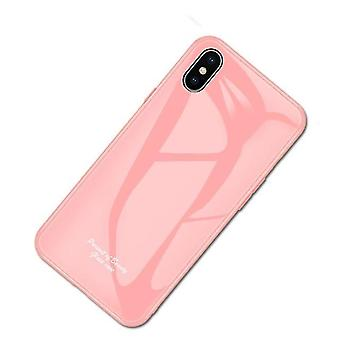 Boîtier en verre trempé à l'épreuve du choc unique pour l'iPhone 6 / 6S d'Apple - Rose