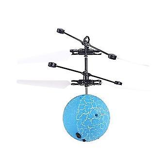 Летающий мяч Игрушки Led Rc Игрушка для детей Аккумуляторная подсветка Мяч Рука (синий)