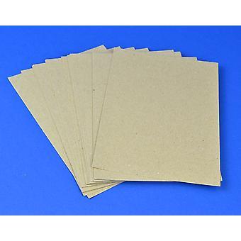 125 A5 natuurlijke bruin gerecycleerd stijl Kraft kaart vellen voor ambachten | Gekleurde kaart voor ambachten