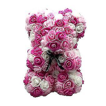 Подарок на день святого Валентина 25 см роза медведь день рождения подарок £? день памяти подарок плюшевый мишка(Розовый 1#)