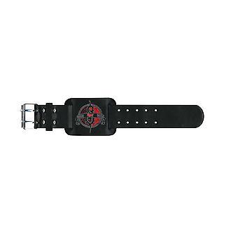 Slipknot armbånd bandets logo Crest offisielle nye svart skinn