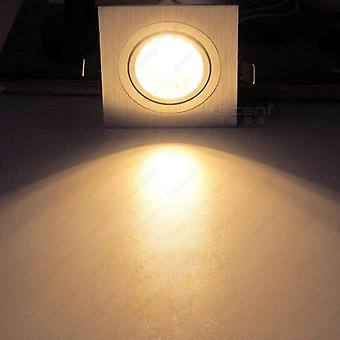 Recessed Light Dimmable/n Grille Lamp Cabinet Vestibule Store Silver Shell