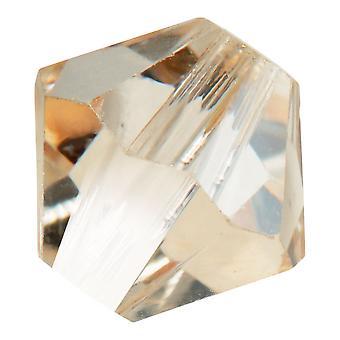 Preciosa Czech Crystal, Bicone Bead 10mm, 12 Pieces, Crystal Honey