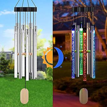 LED Solar Wind Chime Auto Color Changing Waterproof Hanging Solar Light For Home Garden Decor