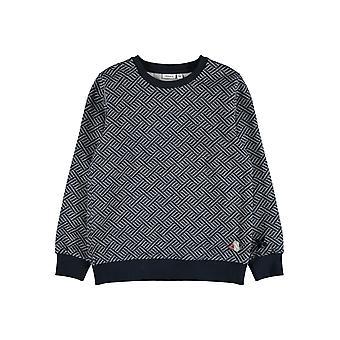 Name-it Jongens Sweater Namen Dark Sapphire