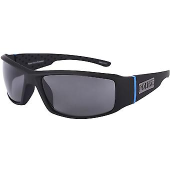 Police/Sheriff TAC Polarized Sport Wrap Thin Blue Line Sunglasses - Police