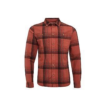 Chester Organic Cotton Camisa a cheques de manga larga Rust