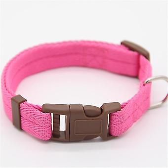Moet verstelbare nylon halsbanden (L 30-50cm) (Roze)