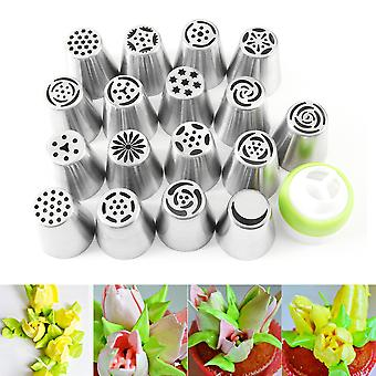 17pcs Stainless Steel Cake Nozzle Russian Tip Useful Pastry Tool Decoratin
