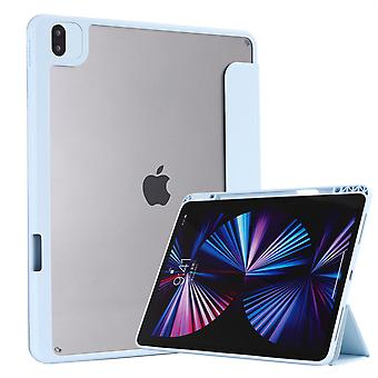 Vhodné pre 18/20/21 iPad Pro12.9 Hybridné tenké puzdro, s priehľadným zadným plášťom, puzdro odolné voči nárazom, svetlo modrá