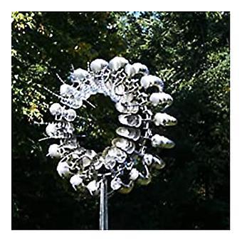Ainutlaatuinen ja maaginen metallinen tuulimylly Ulkona Tuulenpyörittäjät Tuulenpyytäjät Piha Patio L Awn Garden