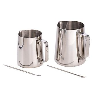304 Stainless Steel Cup With Scaleneedle-nosed Garland Cylinder Milk Maker Coffee Milk Cup