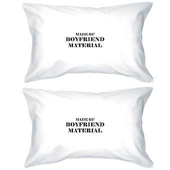 Pojkvän Material 100 bomull kudde fall söt present för par