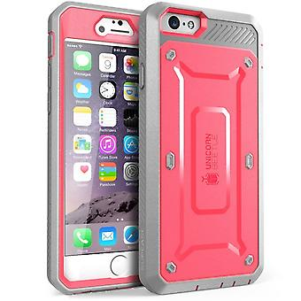 iPhone 6S Case, Supcase, Unicorn Beetle Pro Case, Rugged Holster Case with Built-in Case-Pink/Gray