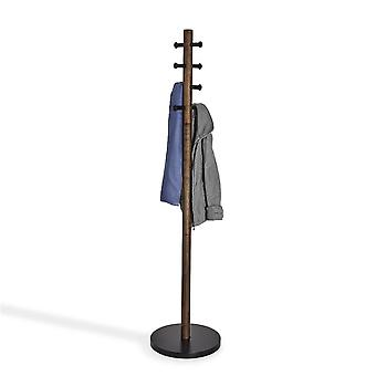 Umbra Pillar Coat Rack - Black/Walnut