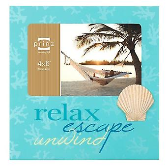 Sea Breeze Sea Shell Wooden 4 By 6 Inch Photo Frame
