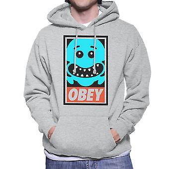 Rick And Morty Mr Meeseeks Obey Men's Hooded Sweatshirt