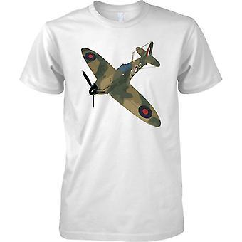 Spitfire grün CamoFlage Farbe - WW2-Jagdflugzeug - Kinder T Shirt