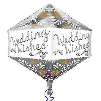 Amscan Wedding Wishes Supershape Anglez Balloon