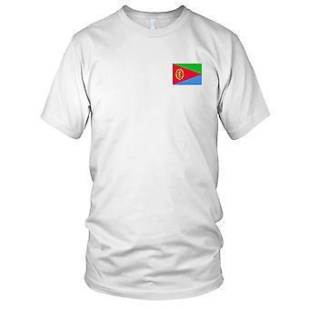 Eritrea Land Nationalflagge - Stickerei Logo - 100 % Baumwolle T-Shirt Herren T Shirt