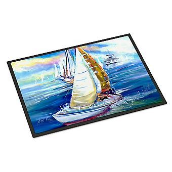 Rock my Boat Sailboats Indoor or Outdoor Mat 18x27
