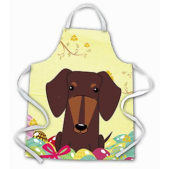 Carolines Treasures  BB6131APRON Easter Eggs Dachshund Chocolate Apron