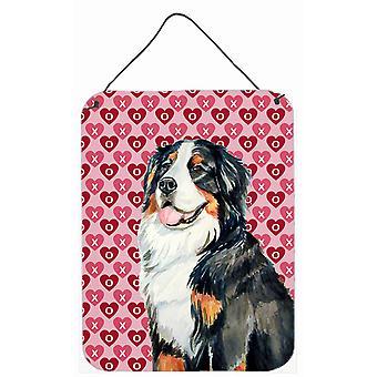 Berner Sennenhund Herzen Liebe und Valentinstag Wand oder Tür hängen druckt
